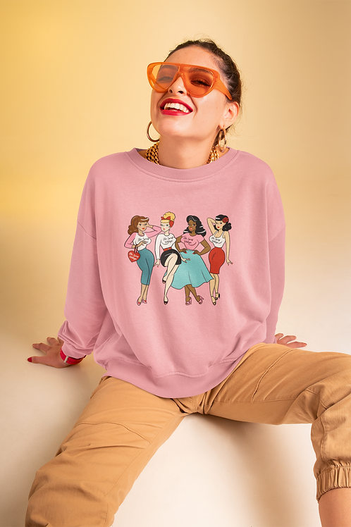 Our Global Clique Soft sweatshirt has a loose fit for a comfortable feel.
