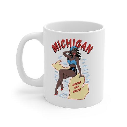 Michigan Pin Up Mug