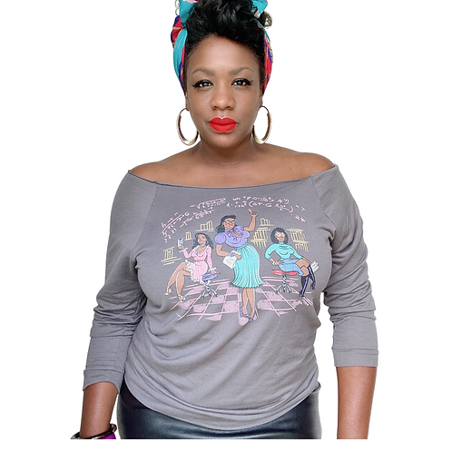Hidden Figures off the shoulder Pin Up Tee