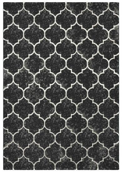 Elite Schwarz Teppich ( 80x150 - 200x290 )
