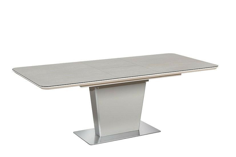 Esstisch ausziehbar in Beige mit Glasplatte 140/180cm oder 160/210cm