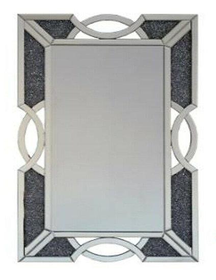 Hängespiegel Diamantoptik, 105 x 70cm