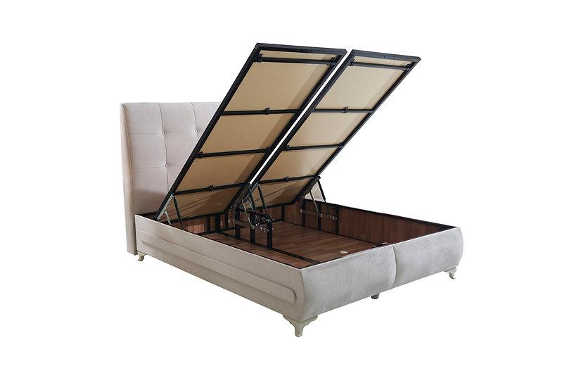 Premium Bettkasten ohne Kopfteil und Matratze