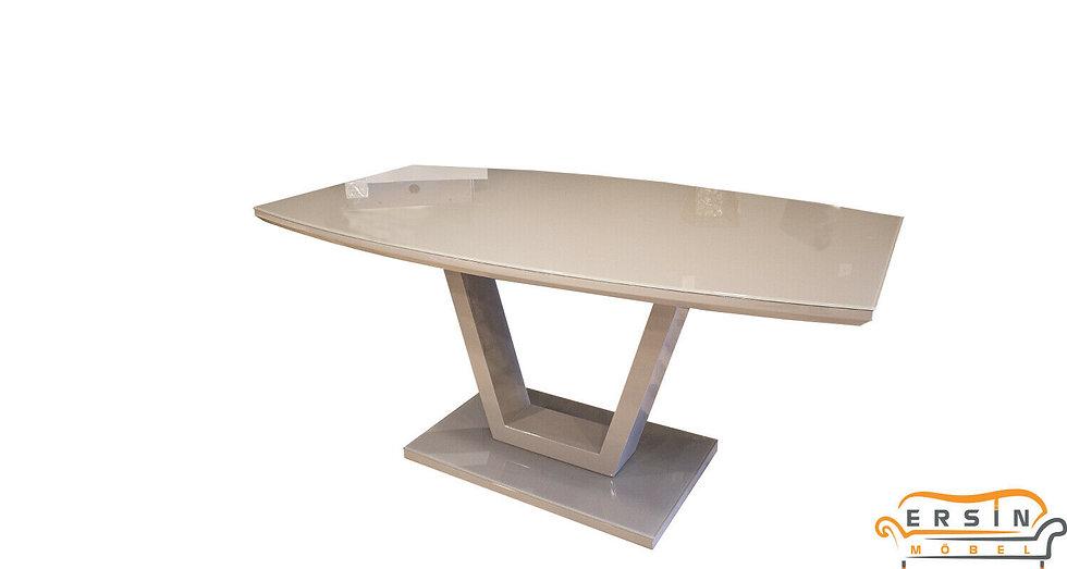 Esstisch mit Glasplatte 160 CM in Grau