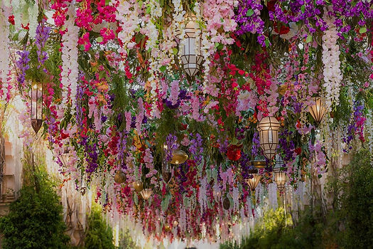 Composition florale de mariage à Marrakech