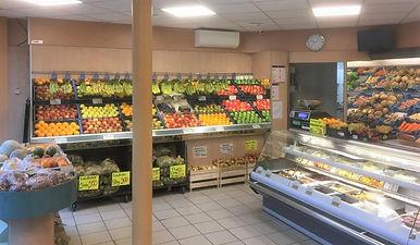 fruitstellling aangelicht winkel bewerkt