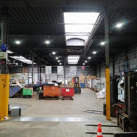 LGE Led verlichting in bedrijfshal