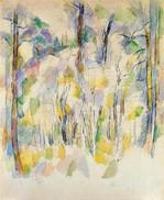 In the Woods, c. 1900, Paul Cézanne