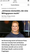 I hope Mrs Schöneberger is wearing Long Lasting Waterproof Mascara; she will remain as radiant when she is crying. And thanks also for the excellent refreshing entertaining  journalism.