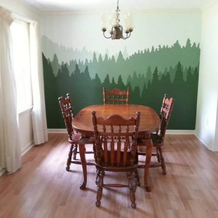 In the Forest Dining Room Mural