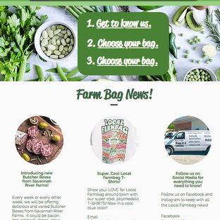 """""""Local Farmbag"""" Website"""