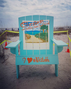 Custom Hilton Head Island Beach Giant Adirondack Chair