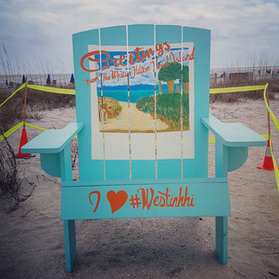 Painted 7-Foot Adirondack Chair
