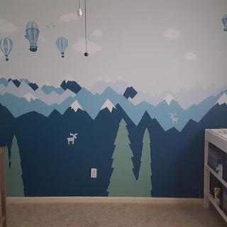 Big Adventures Nursery Mural