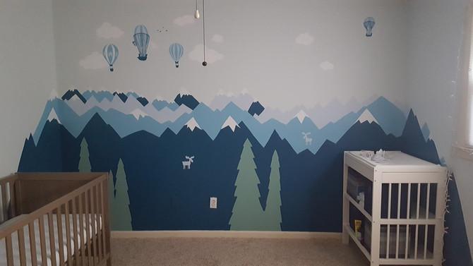 Nursery Adventure Mural