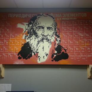 Mendeleev's Periodic Table Mural