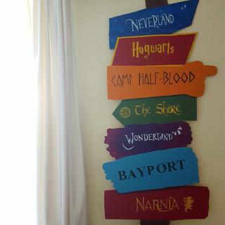 Storybook Adventure Sign for Nursery