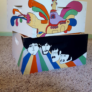 Custom Beatles Themed Bee Boxes