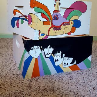 Custom Beatles Themed Bee Boxes