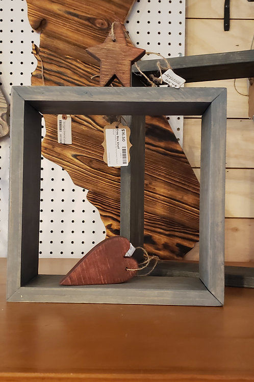 Light Gray Stained Box Shelf