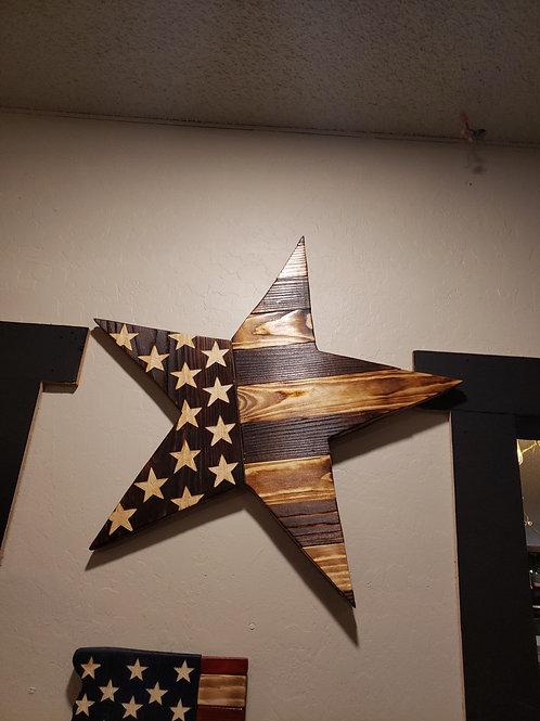 Rustic Flag Star