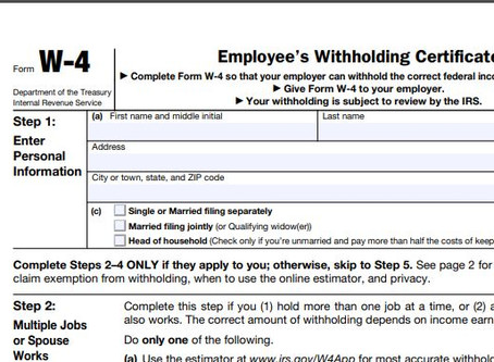 Should I Update My W-4 Withholding?