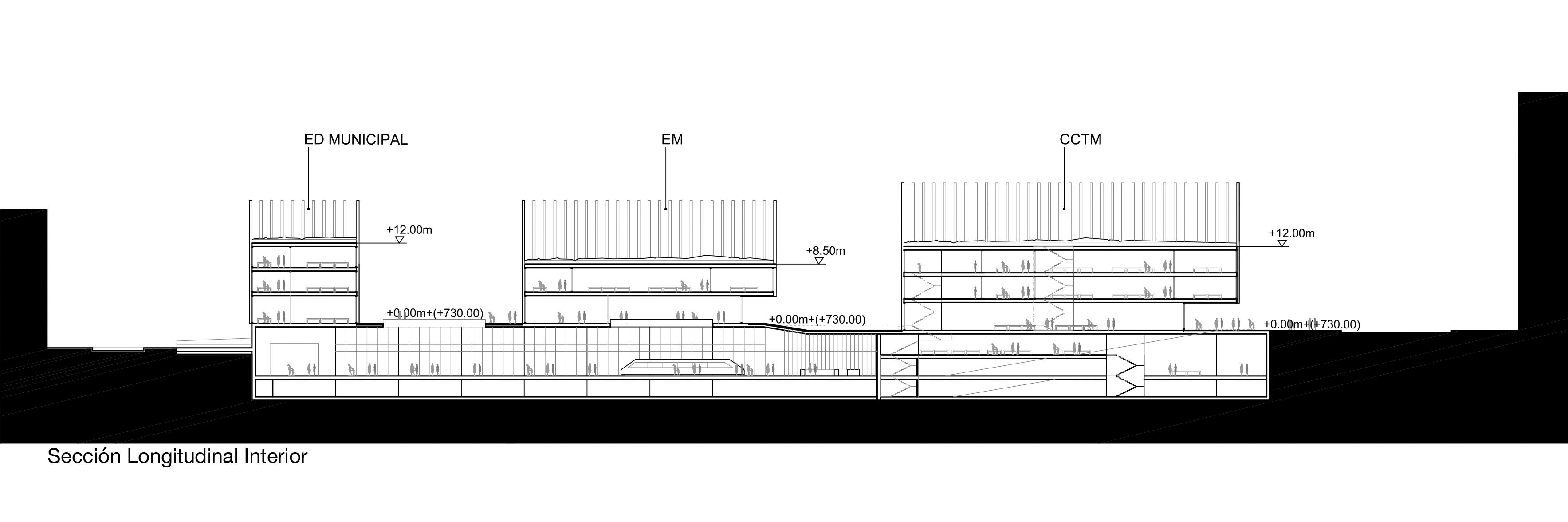 Sección Longitudinal Interior
