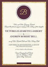 Classic burgundy wedding invitation