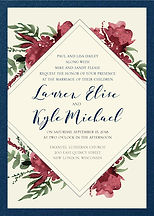 Floral diamond classy wedding invitation