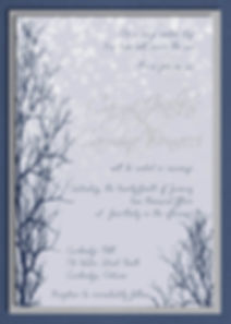 Falling Snowflakes - beautiful tree and snowflake winter scene with a unique layout