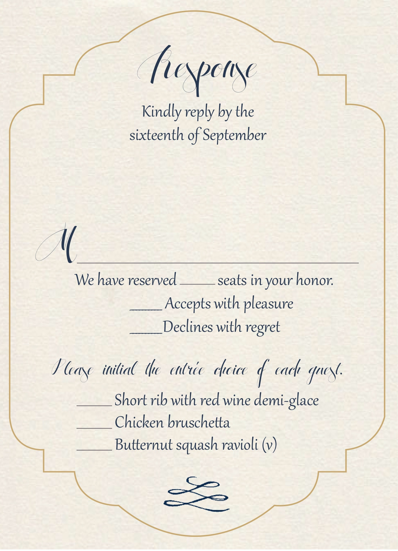 Gatsby Gold response card
