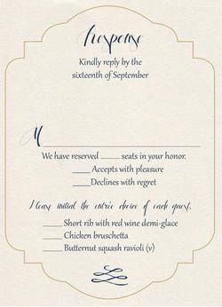 Gatsby Gold response card