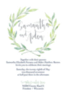 Eucalptlove Weddig suite - euclayptus inspired, greenery wedding invitaion