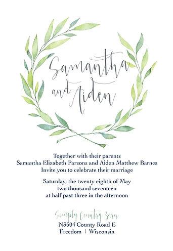 Eucalptlove Weddig suite - euclayptus inspired, greenery wedding invitaion