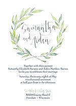 Eucalptus, greenery, moder farmhouse wedding invitation