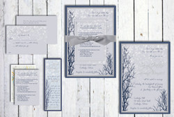 Falling Snowflakes Wedding Set