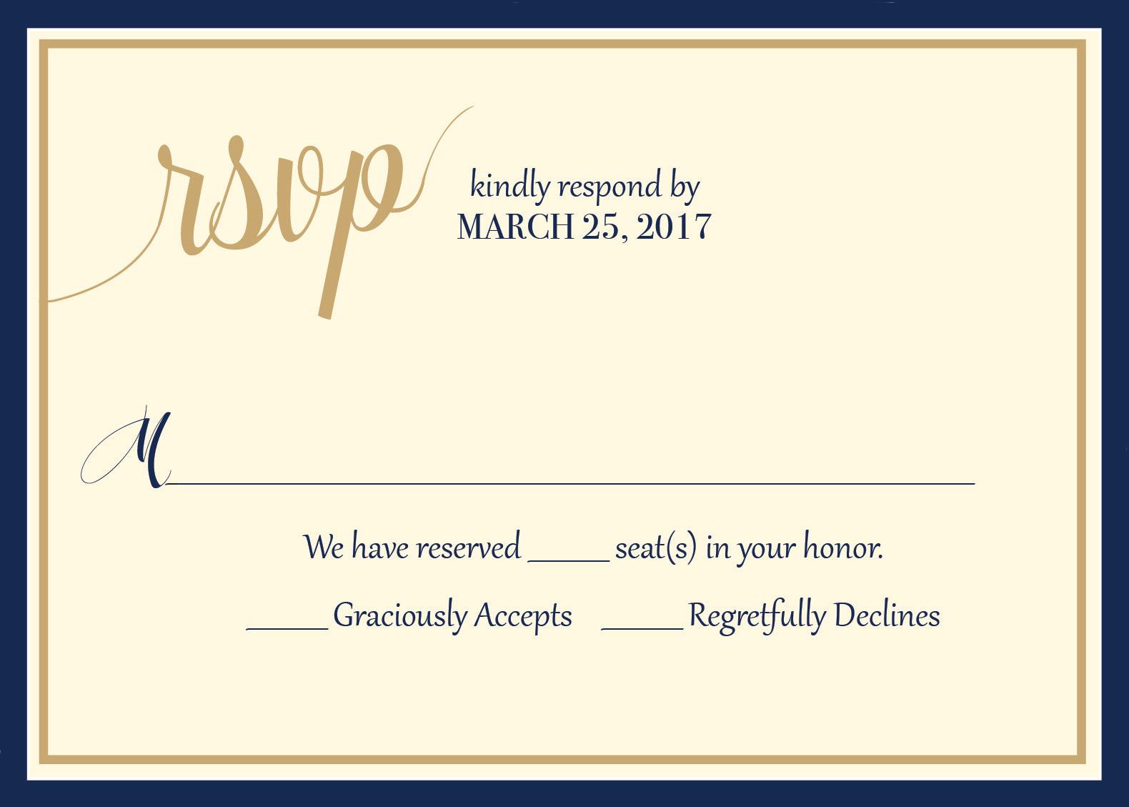 I do. We do. response card