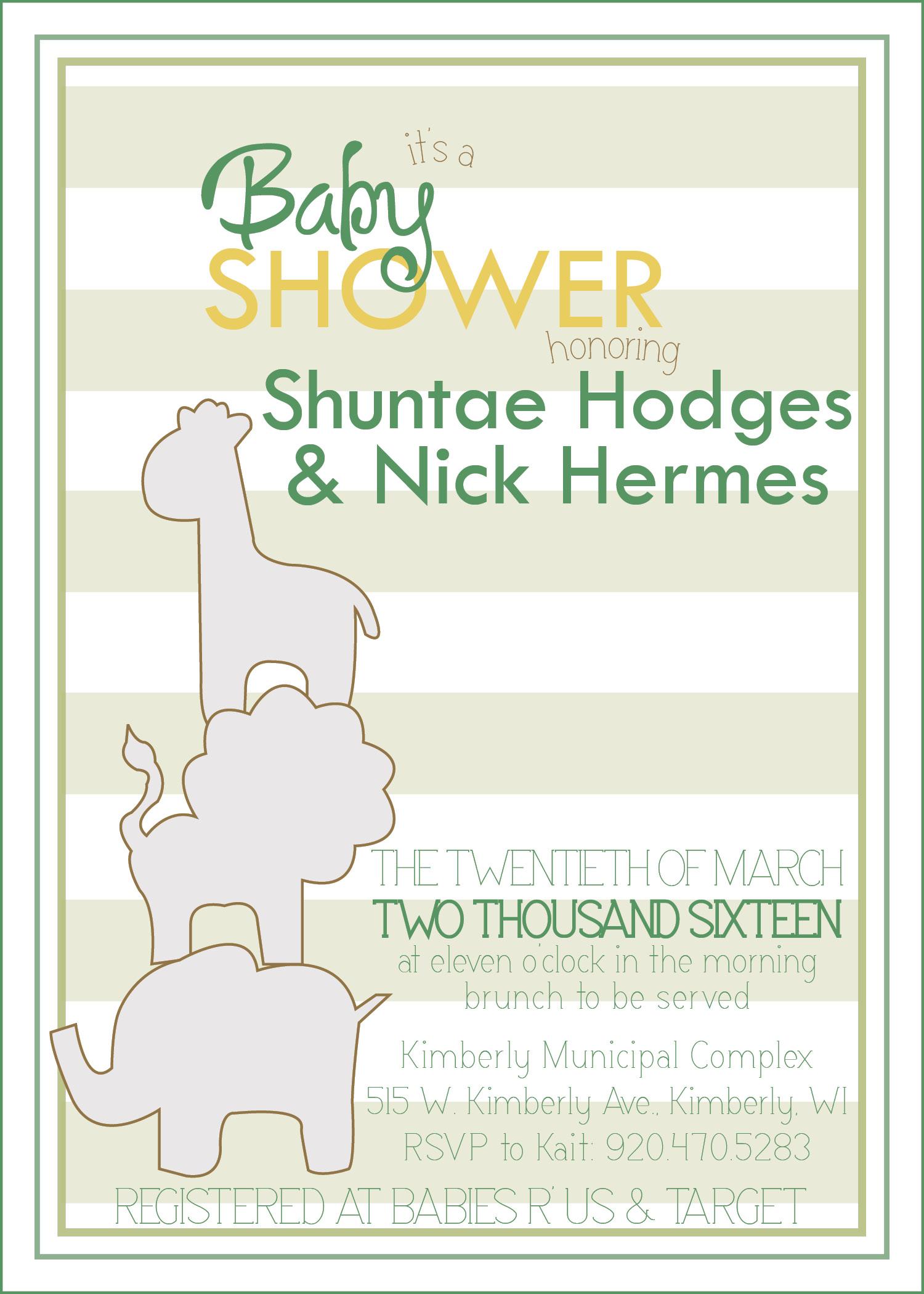 Shuntae Hodges baby shower