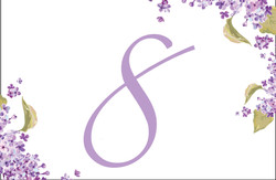 Lucious Lilacs table number
