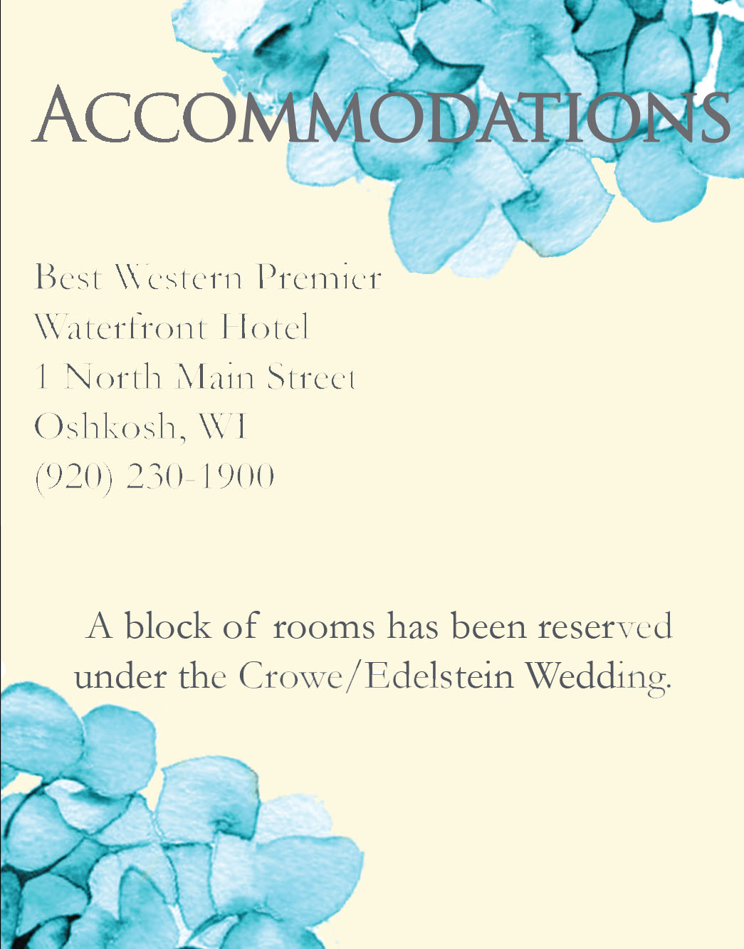 Heavenly Hydrangeas accommodations