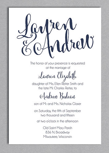 Linen Love, super unique wedding invitaion layout with modern touches