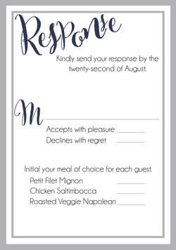 Linen Love response card