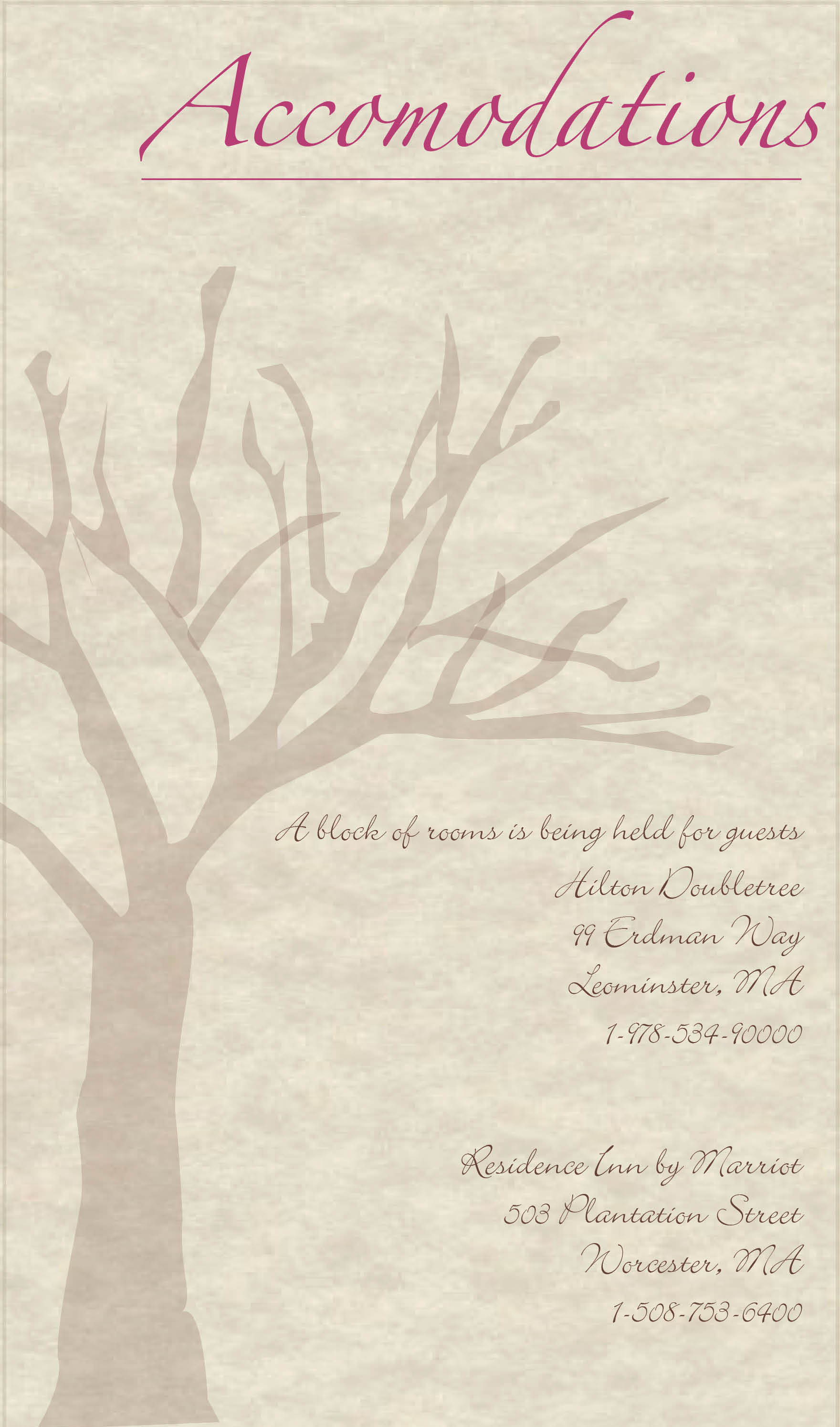 Rustic Elegance accommodations card