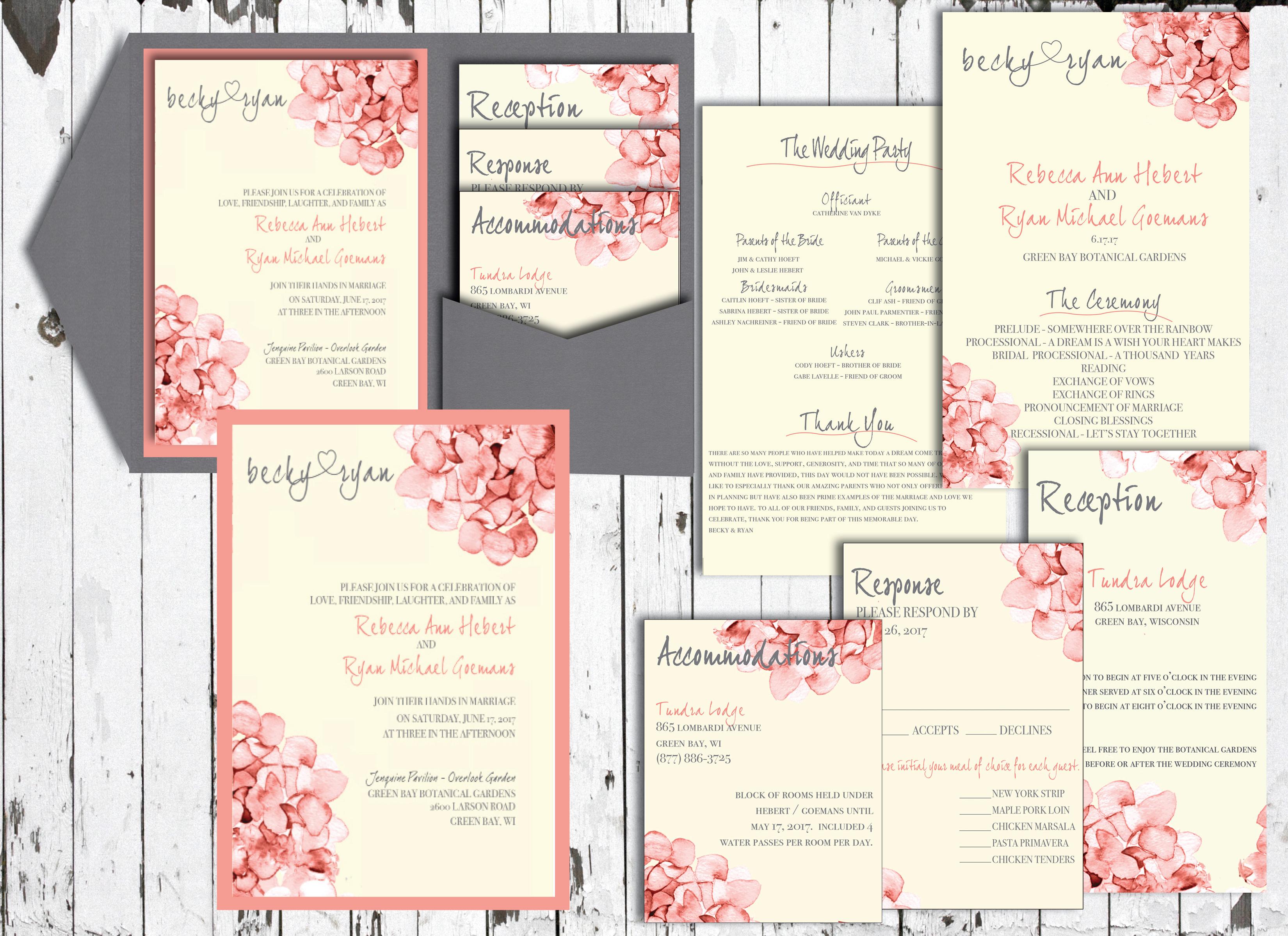 becky hebert wedding set