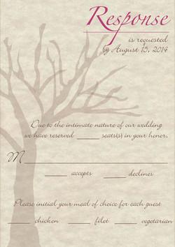 Rustic Elegance response card