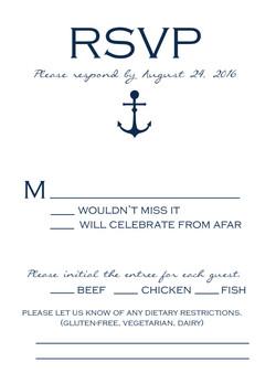 Sailing Away response card