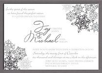 Snowflake dreams weddin invitaion