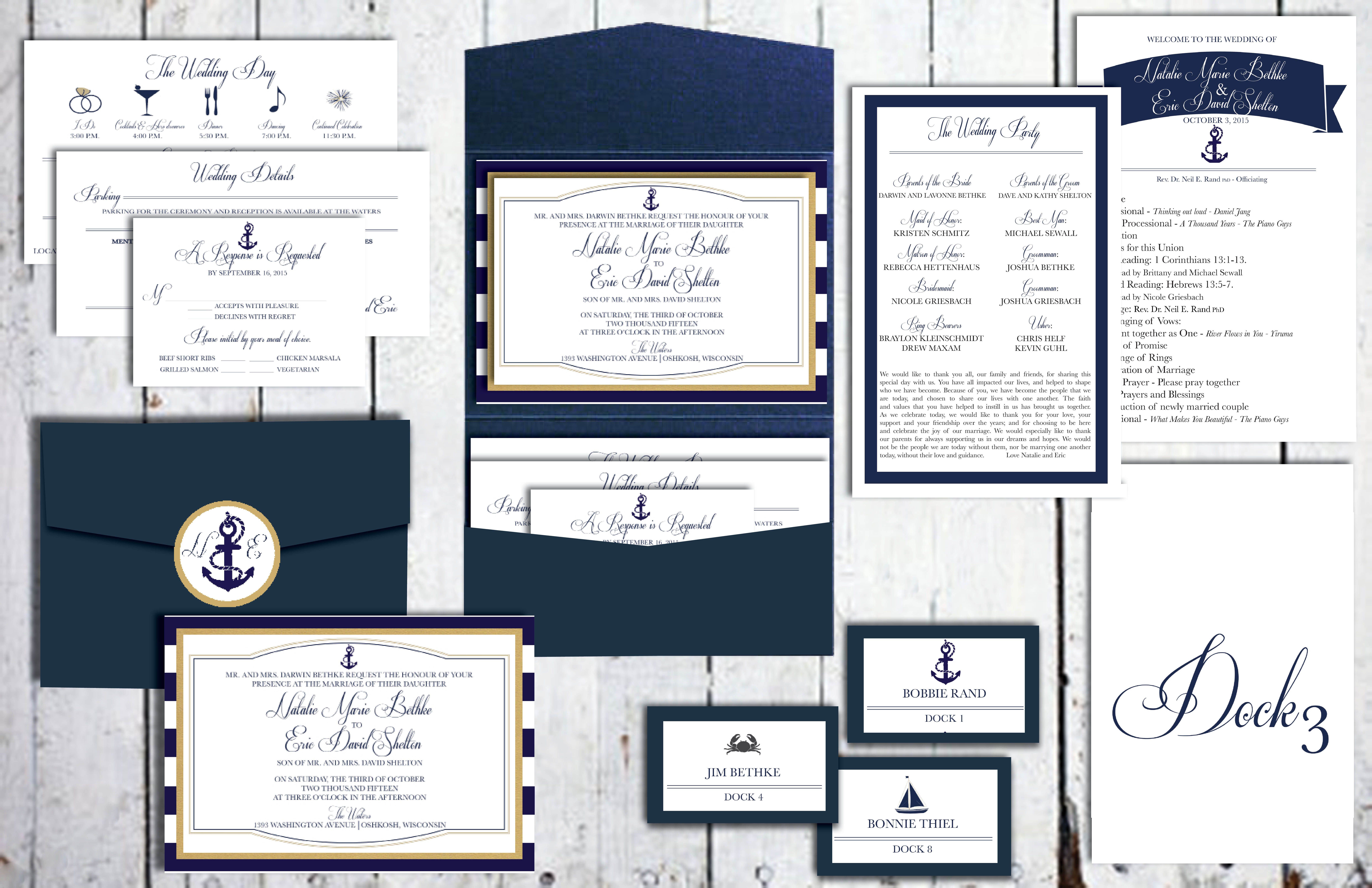 Navy Ships Wedding Set