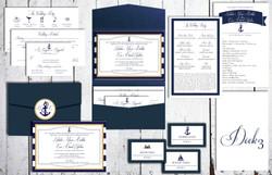Navy Ships Wedding Set