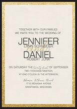 Stunning and simple wedding invitation